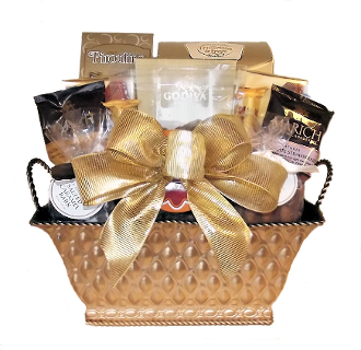 Chocolate Lover Gift Basket by Thoughtful Expressions Gift Baskets Canada. All chocolate snacks and drinks.