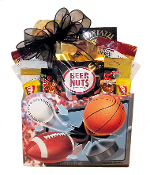 Sports Lover Gift Basket with Assorted Snacks