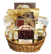 Coffee Break Gift Basket with assorted coffee and gourmet snacks.