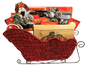 Deluxe Gourmet Christmas Sleigh for Personal or Corporate Gifts