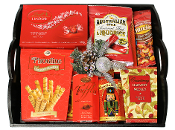 Gourmet Snacks Tray for Christmas Gift Giving.