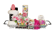 Peony Luxury Bath Products Gift Basket with bath tray and accessories. Canada wide shipping.
