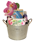 Beanstock Rice Flower Wash Tub Bath Gift Basket