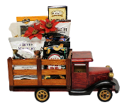Truck Load of Snacks: Decorative Wooden Truck containing assorted snacks.