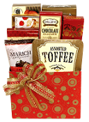 Mini Gourmet Holiday Gift Box with snacks and tea