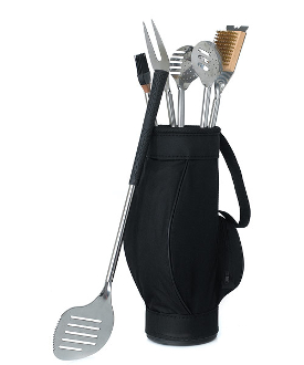 5pc Golf Themed BBQ Tools Set in Golf Bag Gift Set