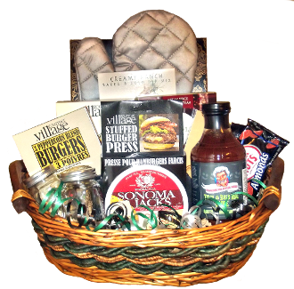 Burger Press BBQ Gift Basket by Thoughtful Expressions.