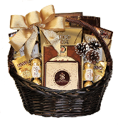 Simple Pleasures christmas gift basket by thoughtful expressions