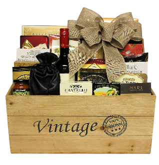 Vintage Crate Assorted Gourmet Gift Basket by Thoughtful Expressions Gift Baskets Canada