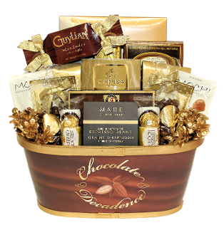 Chocolate Decadence Snacks and Drinks Gourmet Gift Basket Canada Shipping