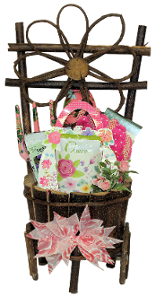 Love to Garden Gift Basket with assorted gourmet products and gift items for gardeners. Canada wide shipping.