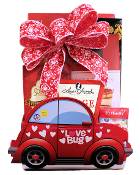 Love bug gourmet chocolate and snacks gift box.