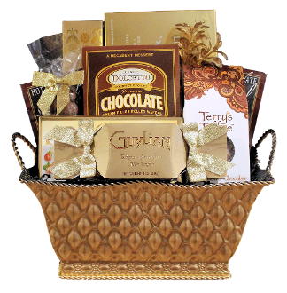 Chocolate lover gift basket by Thoughtful Expressions Gift Baskets Canada.