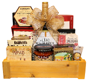 wine and cheese with snacks gift tray canada