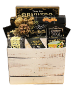 assorted holiday snacks gift basket by Thoughtful Expressions Gift Baskets Canada