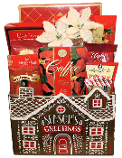 Season's Greetings Gift Basket with gourmet snacks by Thoughtful Expressions Canada